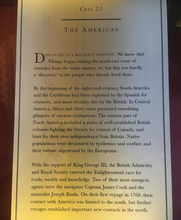 Display Case 21, The Americas exhibition, British Museum
