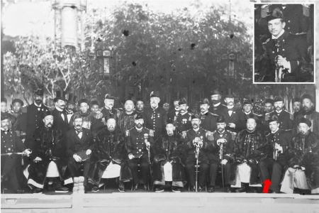 Christian's grandfather, Christian Frederik Denys Mourier, meeting with Qing dynasty officials in Shanghai, 1900